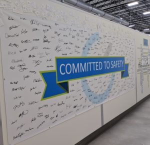 Committed to safety wall