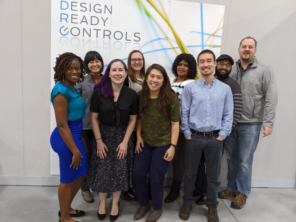 A photo of Design Ready Controls Society of Women Engineers members.