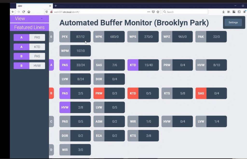 Photo of the buffer monitor